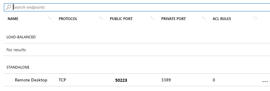 Changing RDP Port in Azure