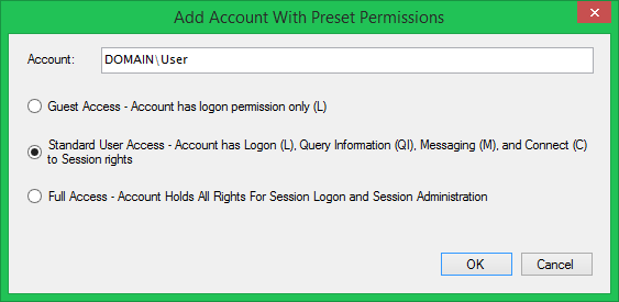 Grant RDS Account Permissions