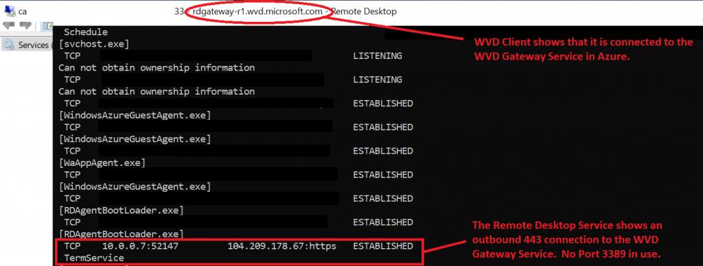 Windows Virtual Desktop Reverse Connect Server Side